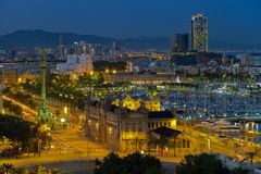 Panorama of the city of Barcelona Spain Royalty Free Stock Photos