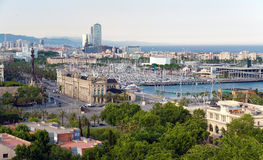 Panorama of the city of Barcelona Spain Royalty Free Stock Images
