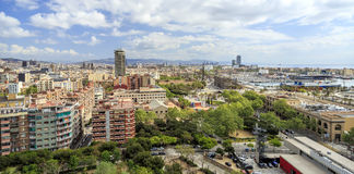 Panorama of the city of Barcelona Stock Image