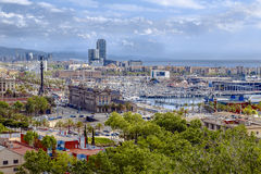 Panorama of the city of Barcelona Spain Royalty Free Stock Photo