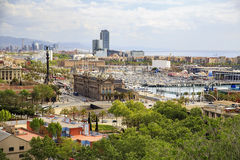 Panorama of the city of Barcelona Spain stock image