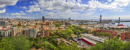 Panorama of the city of Barcelona Spain Royalty Free Stock Image