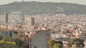 Panorama of the city of Barcelona from the top. Panorama of the city of Barcelona from the top stock video