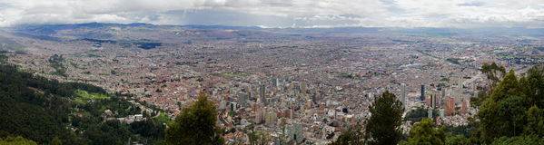 Panorama of the city of Bogota Colombia Royalty Free Stock Photos