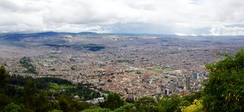 Panorama of the city of Bogota Colombia Stock Photos