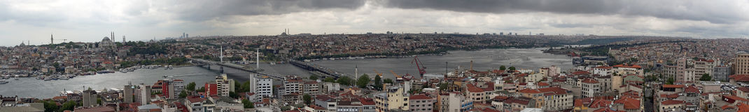 Panorama of the city center of Istanbul Stock Photos