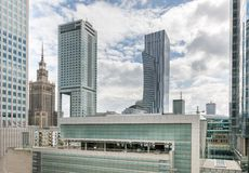 Panorama of city center Warsaw, Poland Stock Image