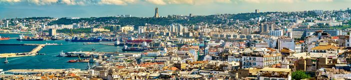Panorama of the city centre of Algiers in Algeria. Panorama of the city centre of Algiers, the capital of Algeria stock photography
