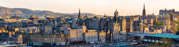 Panorama of the city centre of Edinburgh Stock Image