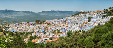Panorama of the city Chefchaouen in Morocco. Stock Images