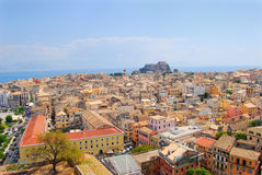 Panorama of city, corfu. View over the town,corfu Stock Photo
