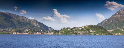Panorama of the city Dervio Stock Photography