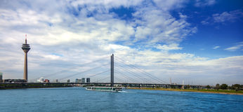 Panorama city of Dusseldorf Stock Photography