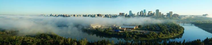 Panorama of city edmonton stock photos