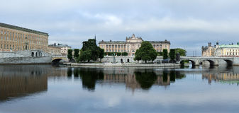 Panorama of the city embankment. In the city of Stockholm, Sweden stock image