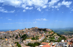 Panorama of the city of Enna Royalty Free Stock Photo