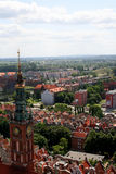 "Panorama City GdaÅ""sk. Panorama of the northern Polish - Gdańsk royalty free stock images"