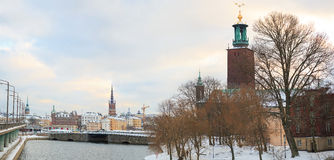Panorama City Hall Sweden Royalty Free Stock Photography
