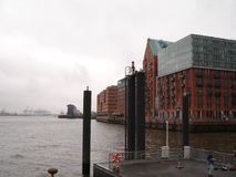 Panorama of the city of Hamburg. View of the Elbe river in Hamburg. View of the Elbe river in Hamburg. Panorama of the city of Hamburg. view of the river Elbe in Royalty Free Stock Images