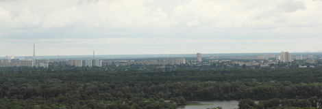 Panorama of the city from the hill Royalty Free Stock Photos