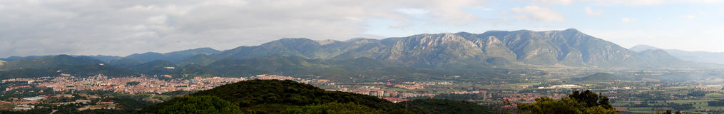Panorama of the city of Iglesias Royalty Free Stock Image