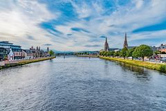 Panorama of the city of Inverness Royalty Free Stock Photography