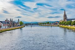 Panorama of the city of Inverness Royalty Free Stock Photos
