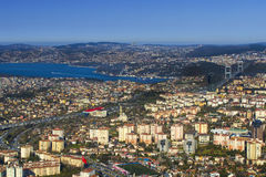 Panorama of the city of Istanbul Royalty Free Stock Photo