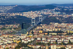 Panorama of the city of Istanbul from the observation platform Sapphire Royalty Free Stock Photos