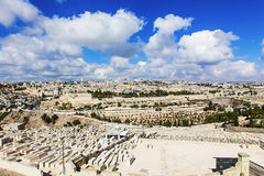 Panorama city of Jerusalem Royalty Free Stock Photos