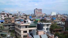 Panorama of the city of Kathmandu stock footage