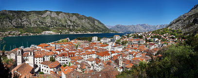 Panorama of the city of Kotor Royalty Free Stock Images