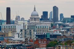 Panorama of the City of London  - St. Pauls Cathedral Stock Photo
