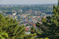 Panorama of the city of Lviv. Central part of the old city. Ukra Royalty Free Stock Image