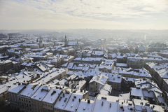 Panorama of the city of Lviv. Royalty Free Stock Image