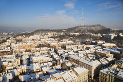 Panorama of the city of Lviv. Stock Image