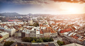 Panorama of the city of Lvov Royalty Free Stock Photography