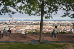 Panorama of the city, Lyon, France Stock Photography