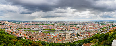 Panorama of the city, Lyon, France Royalty Free Stock Photos