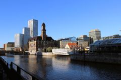 Panorama of Malmo. Panorama of the city of Malmo from the bridge Royalty Free Stock Images