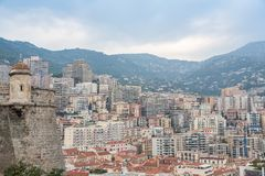 Panorama of the city Monte Carlo  in Monaco Stock Photos
