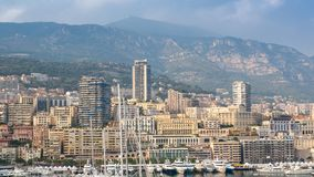 Panorama of the city Monte Carlo  in Monaco Stock Photography