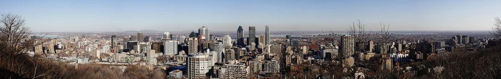 Panorama of city of Montreal, Quebec, Canada Stock Photo