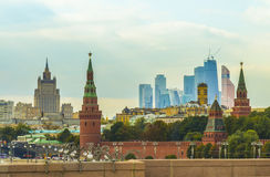 Panorama of the City of Moscow Stock Image