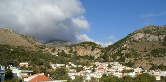 Panorama of the city in mountains Royalty Free Stock Photos