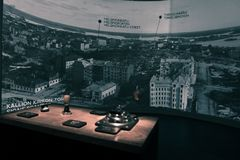 Panorama in City Museum of Helsinki stock images