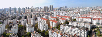 Panorama of City neighborhoods Stock Images