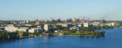 Panorama of the city of Nizhny Tagil and metal works Royalty Free Stock Photography