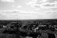 Panorama City. Panorama of the northern Polish - Gdańsk royalty free stock photography