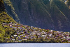 Panorama of the city of Odda. Norway Royalty Free Stock Photo
